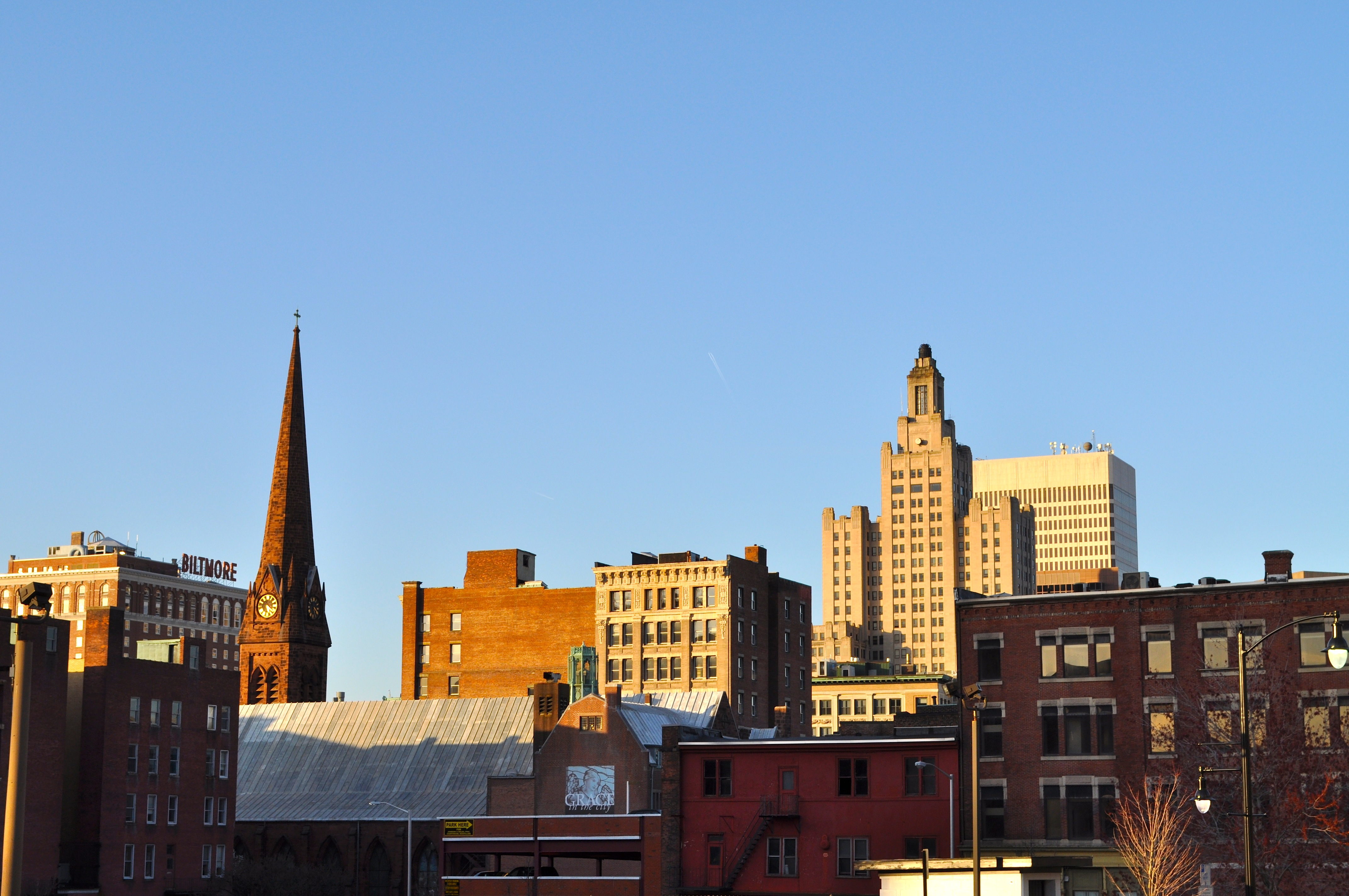 Providence Rhode Island Skyline http://somethingfortheeyes.com/category/providence/