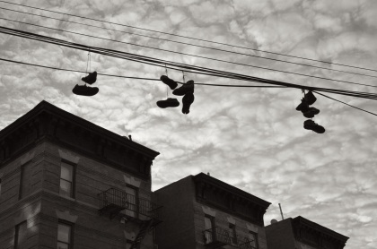 Shoes Over Courtlandt Avenue - New York City, New York