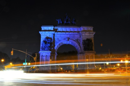 Grand Army Plaza At Night - New York City, New York