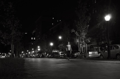Lone Pedestrian At Night - New York City, New York
