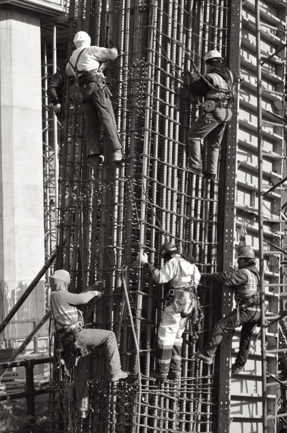Hudson Yards Construction Workers - New York City, New York