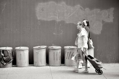 Chinatown Trashcans - New York City, New York