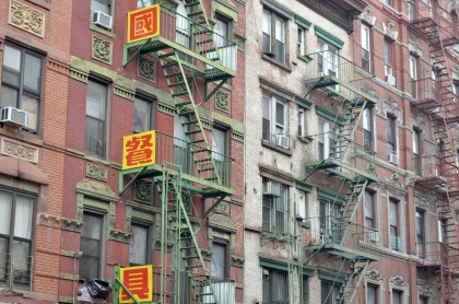 Chinatown Fire Escapes - New York City, New York