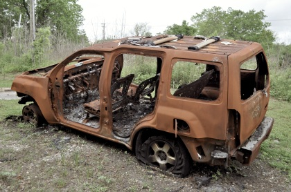 Burned Out SUV - New Orleans, Louisiana