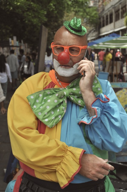 Clown On The Phone - New Orleans, Louisiana