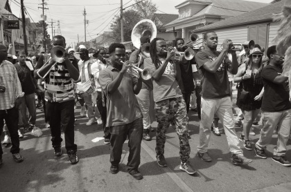 Second Line On Oak Street - New Orleans, Louisiana