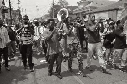 Second Line On Oak Street - New Orleans, Louisiana