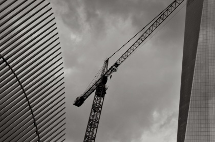 Crane In The Middle - New York City, New York