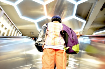 Broadway Lafayette Escalator - New York City, New York