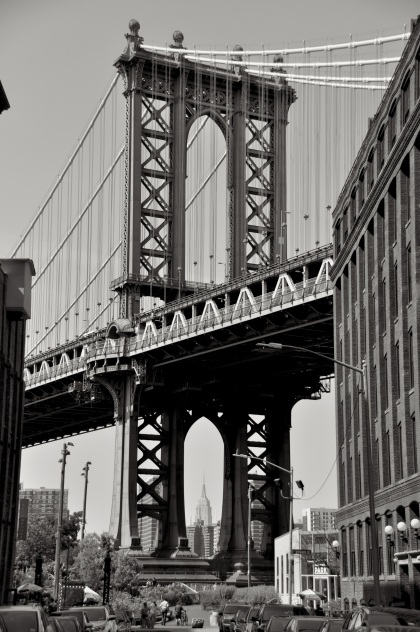 Empire State Through The Manhattan Bridge T