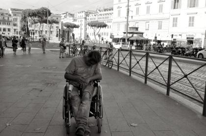 Wheelchair Beggar T