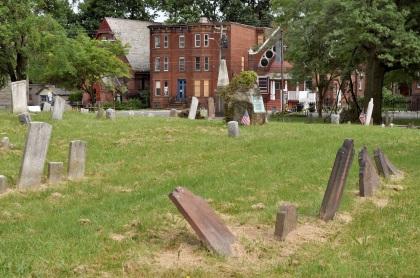 Leaning Gravestones T
