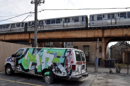 Tagged Van With Train T