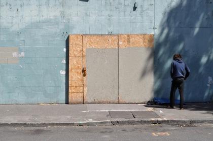 Blue Hoodie Blue Wall T